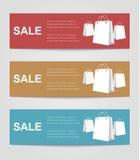 Set coupon banner Royalty Free Stock Photos