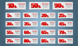 Set coupon banner Stock Photos