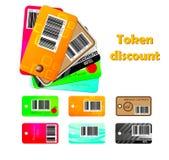 Set of coupon codes Royalty Free Stock Image