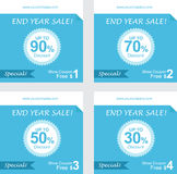 Set of coupon discount, gift vouchers, free coupon vector Royalty Free Stock Photography