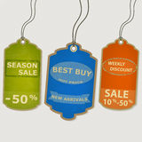Set coupon labels. grunge style Royalty Free Stock Photos