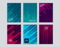 Set of cover design with background of geometric lines. Modern design. Vector royalty free illustration