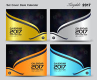 Set Cover Desk Calendar 2017 year template design, cover design, Stock Images