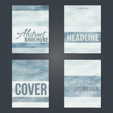 Set of cover layouts with gray stripes Stock Photography