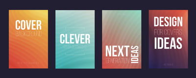 Set of 4 cover magazine template. Cover Stock Images