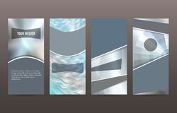 Free Set Cover Pages Brochure Background Metalic Design09 Royalty Free Stock Photos - 111004288
