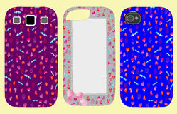 Set coverings for phones with hearts Royalty Free Stock Images