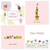 Set of covers. Colorful graphic illustrations for greeting cards Stock Photography