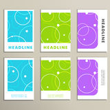Set of covers with abstract circles and patterns Stock Images