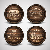 Set of covers casks Stock Image