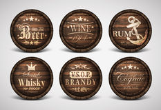 Set of covers casks Royalty Free Stock Images
