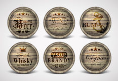 Set of covers casks Royalty Free Stock Image
