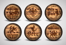 Set of covers casks Stock Photo