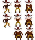 Set of cowboys. A  illustration Royalty Free Stock Images