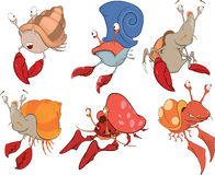 Set of crabs cartoon Royalty Free Stock Image
