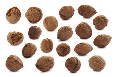 Set of cracked and shelled walnuts Royalty Free Stock Photo