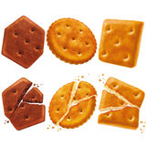 Set of crackers Royalty Free Stock Photography