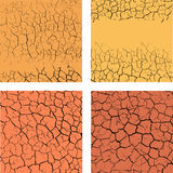 Set of cracks backgrounds Royalty Free Stock Photo