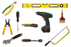 Set of craftsman tools Royalty Free Stock Photography