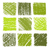 Set of crayon drawn textures . Royalty Free Stock Photography