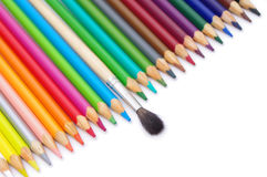Set of crayons. On white Royalty Free Stock Photos