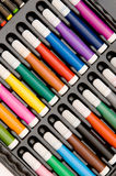 Set of crayons isolated Stock Images