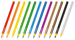 Set of Crayons Royalty Free Stock Photography