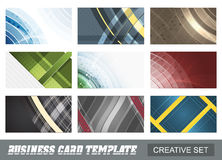 Set of creative abstract business card template. Stock Image