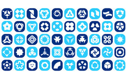 Set Of 50 Creative Abstract Icon Set Collection. Vector file royalty free illustration