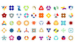 Set Of 50 Creative Abstract Icon Set Collection. Vector file stock illustration