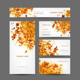 Set of creative business cards design, abstract Stock Photos
