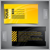 Set of creative business cards Stock Images