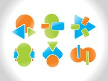 Set of creative bussiness icons Royalty Free Stock Photo