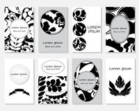 Set of creative card with vintage texture. floral pattern for pl Royalty Free Stock Images