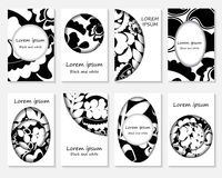 Set of creative card with vintage texture. floral pattern for pl Stock Photography