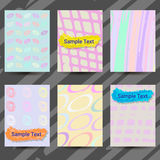 Set of Creative Cards with Hand Drawn Textures. Royalty Free Stock Photography