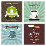 Set of creative coffee house poster  illustrations. Royalty Free Stock Images