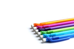 Set of creative colorful pencils Stock Images