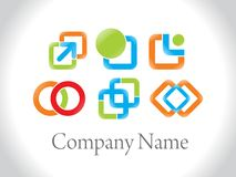 Set of creative corporate logos Stock Photography