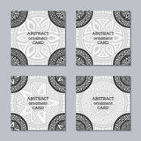 Set of 4 creative covers. royalty free illustration