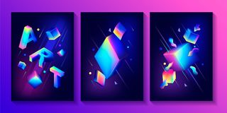 Set of creative design posters Royalty Free Stock Photography