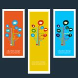 Set of creative design stickers with icons Royalty Free Stock Image