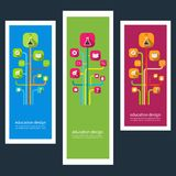 Set of creative design stickers with icons Stock Photo