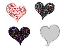 A set of creative & different style hearts shape Stock Photo