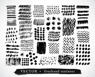 Set creative freehand textures Royalty Free Stock Photos