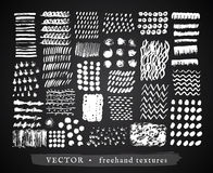Set creative freehand textures Royalty Free Stock Images