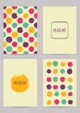 Set of creative ink cards Royalty Free Stock Photography