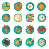 Set of Creative International Food Menu Vectors and Icons Royalty Free Stock Images