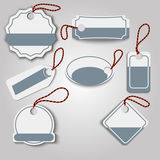 Set creative label template. Vector illustration Stock Images