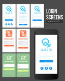 Set of creative Login Screens. Royalty Free Stock Images